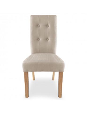 Lot de 2 chaises Adam Tissu Beige wh11322beige3