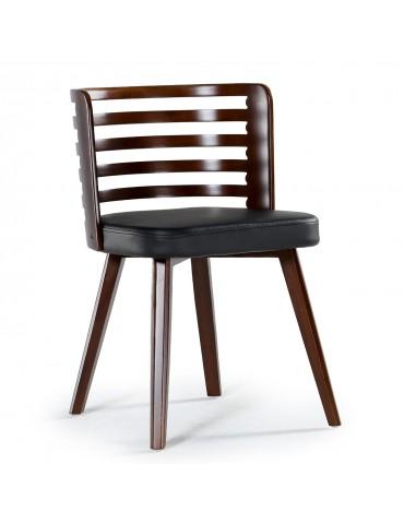 Lot de 2 chaises scandinave Koxy bois noisette et Noir 2xgf160anoisnoir