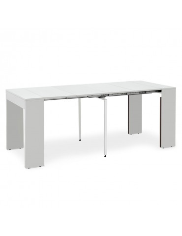 Table extensible Loic Blanc mat ks1674ablanc