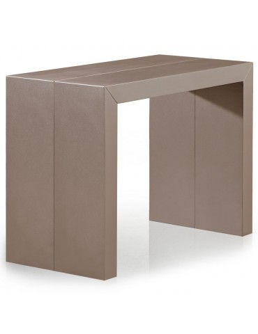 Table Console Nassau Bicolore Taupe carbone et Blanc at8027matchampagneblanc