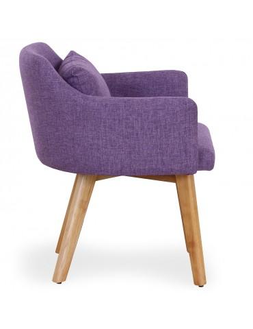 Lot de 2 fauteuils scandinaves Gybson Tissu Violet lf5030lot2purplefabric