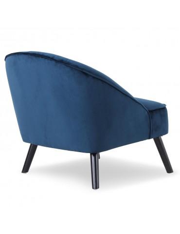 fauteuil ioan velours bleu qh8922v163blue. Black Bedroom Furniture Sets. Home Design Ideas