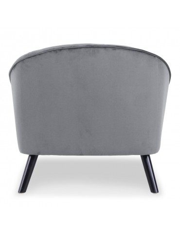 Fauteuil Ioan Velours Gris qh8922v121grey