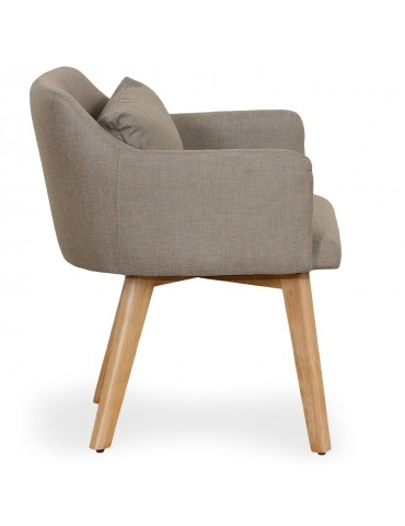 Chaise / Fauteuil scandinave Gybson Tissu Taupe lf5030puttyfabric