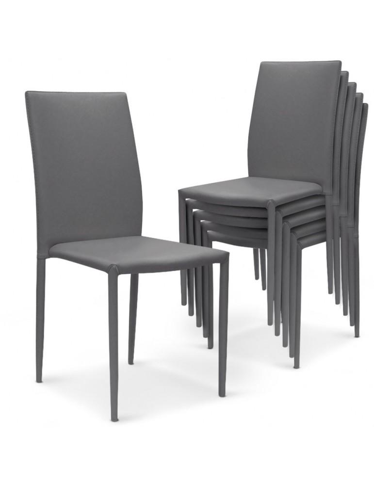 Lot de 30 chaises empilables Modan Simili (P.U) Gris a84pulot30gris