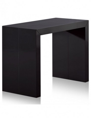 Table Console Nassau XL Laquée Noir at-8027L-Noir