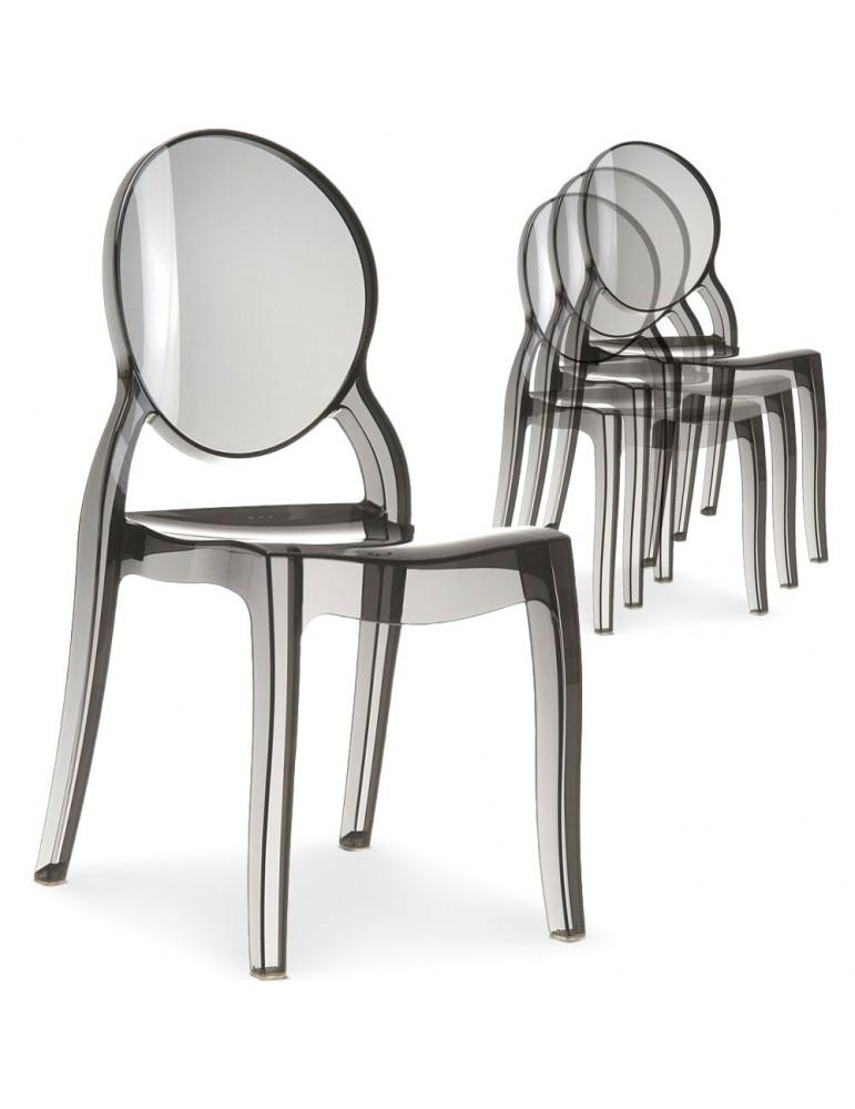 Lot de 20 chaises Diva Plexi Transparent Fumé zs9007lot20fume