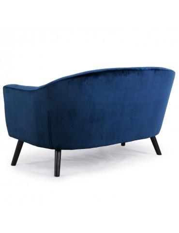 Canapé 3 places scandinave Savoy Velours Bleu qh8805v3bleu