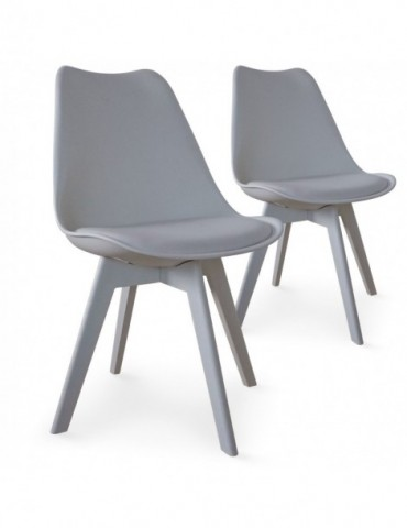 Lot de 2 chaises Juno Gris 8055egris