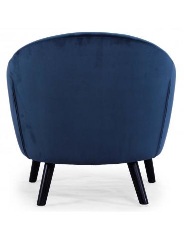 Fauteuil scandinave Savoy Velours Bleu qh8805v1bleu