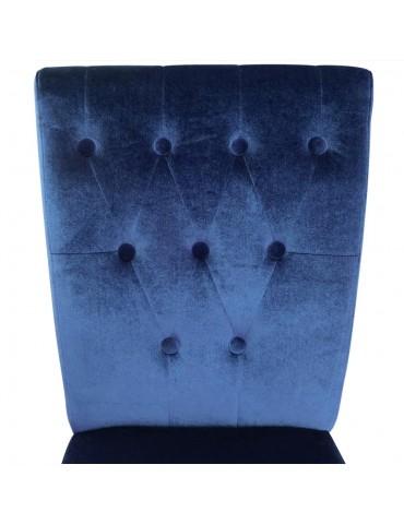 Lot de 2 chaises Beata Velours Bleu xylot2veloursbleu