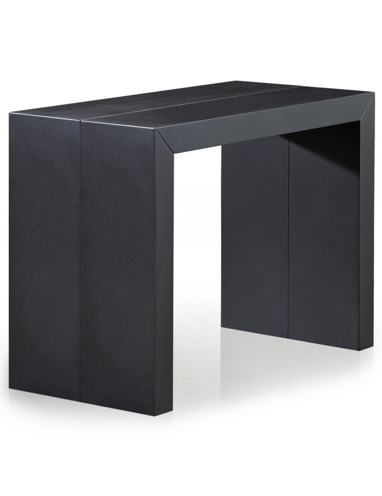 Table Console Nassau XL Noir carbone at-8027L-Noir carbone