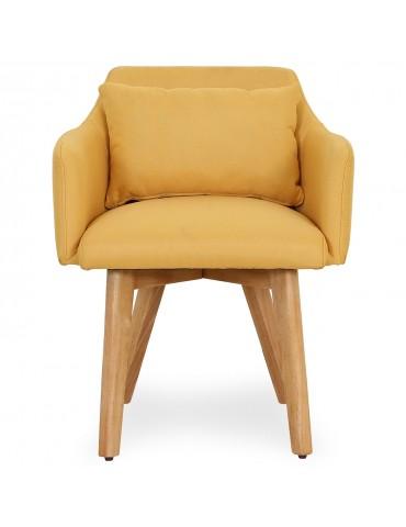 Lot de 2 fauteuils scandinaves Gybson Tissu Jaune lf5030lot2yellowfabric