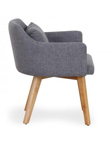 Lot de 2 fauteuils scandinaves Gybson Tissu Gris clair lf5030lot2lightgrey