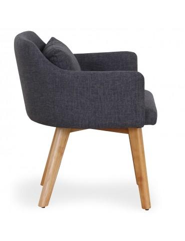 Lot de 2 fauteuils scandinaves Gybson Tissu Gris foncé lf5030lot2darkgreyfabric