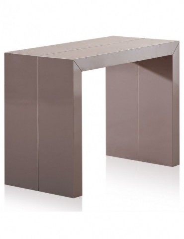 Table Console Nassau XL Laquée Taupe at-8027L-Taupe laqué