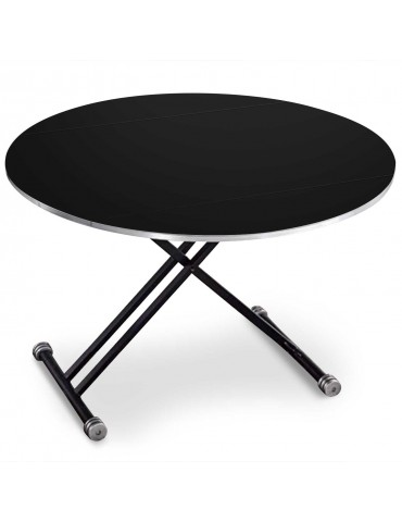 Table basse relevable et extensible Sharo Noir mat n13blackmat