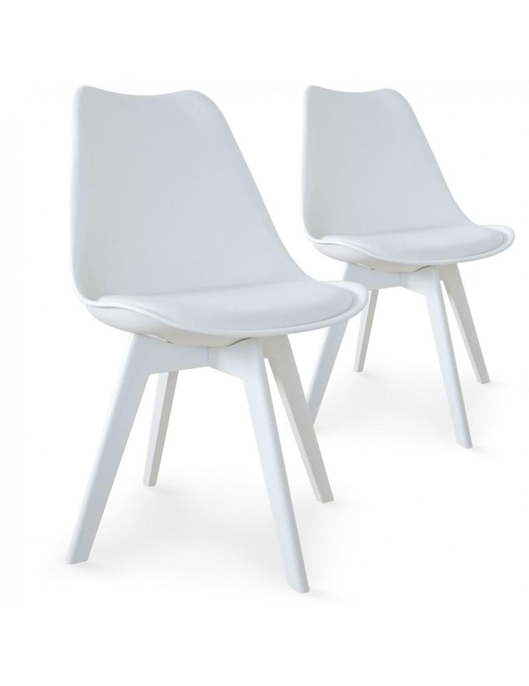 Lot de 2 chaises Juno Blanc 8055eblanc
