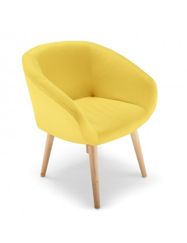 Chaise / Fauteuil style scandinave Frost Jaune lsr15146jaune