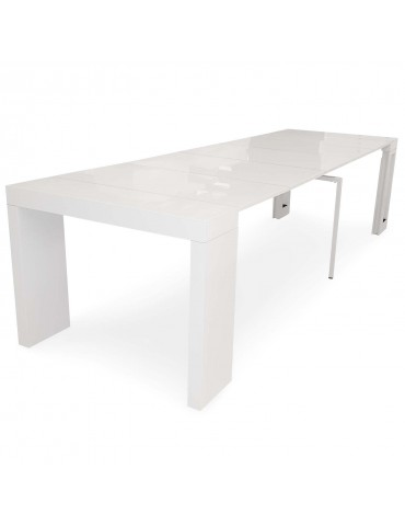 Table console extensible Chay Blanc laqué dt41ablanc