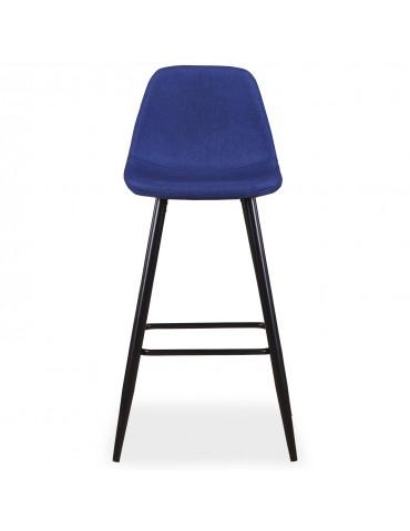 Lot de 4 chaises de bar Jody Tissu Bleu bc5270blue