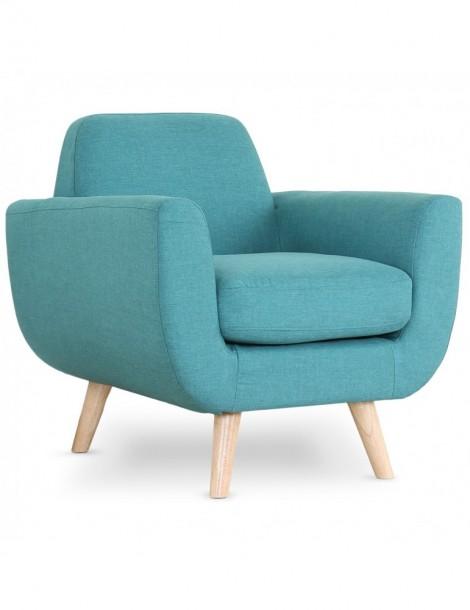 fauteuil scandinave danube tissu bleu l2081bleu. Black Bedroom Furniture Sets. Home Design Ideas