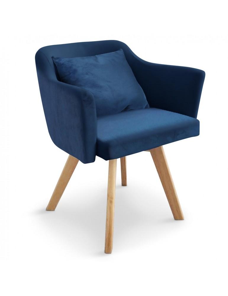 Chaise / Fauteuil scandinave Dantes Velours Bleu yf1529vblue