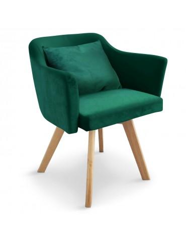 Chaise / Fauteuil scandinave Dantes Velours Vert yf1529vgreen