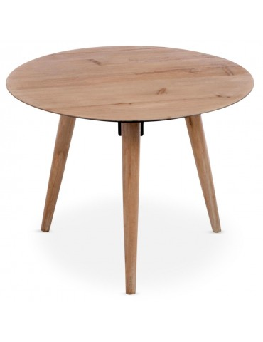 Table basse scandinave ronde Jalea Chêne 72962