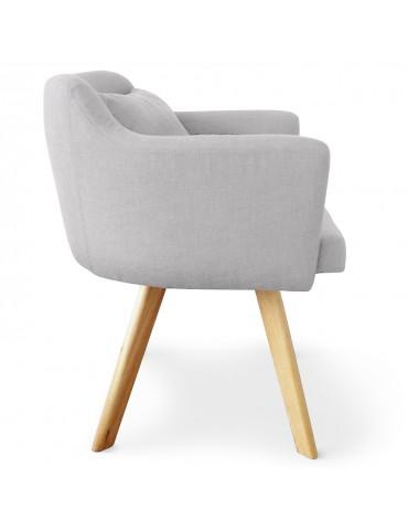 Lot de 2 fauteuils scandinaves Dantes Tissu Gris yf1529lot2gris