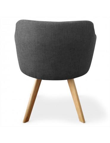 Lot de 2 fauteuils scandinaves Dantes Tissu Gris foncé yf1529lot2grisfonce