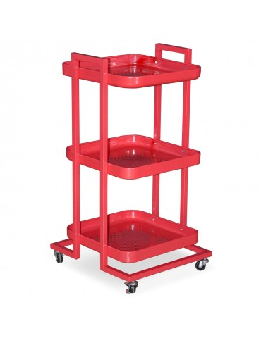 Trolley Pepper Rouge en métal ks2816rouge