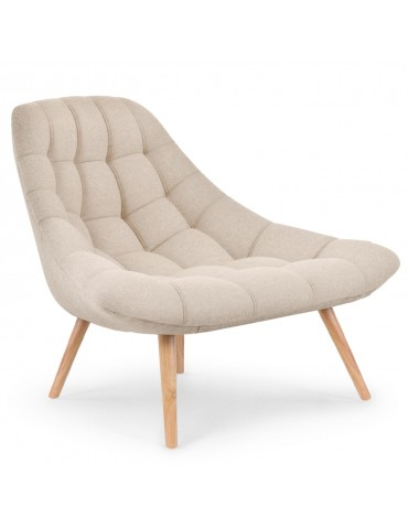 Lot de 2 fauteuils Danios Tissu Beige qh8927beige3