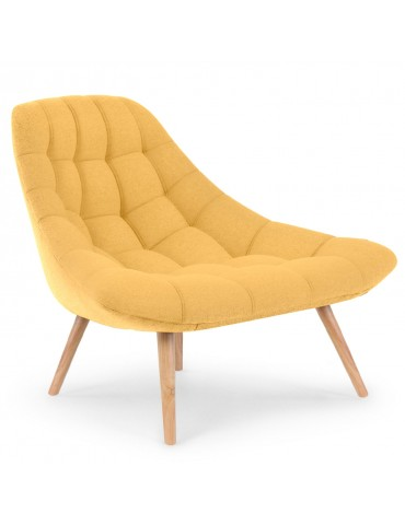 Lot de 2 fauteuils Danios Tissu Jaune qh8927yellow6