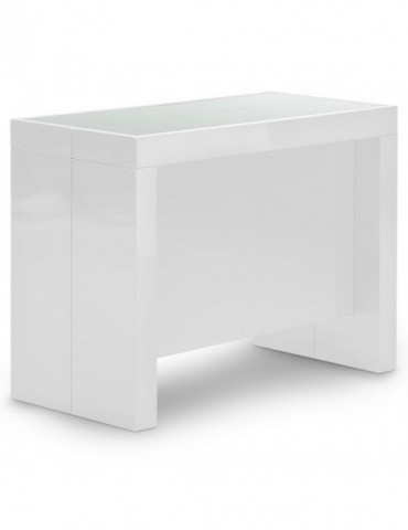 Table Console Pandore Blanc AT8028L-Blanc laqué