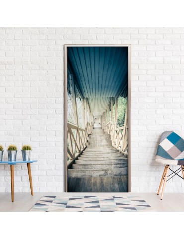 Papier-peint pour porte - Wooden Vintage Stairway A1-TNTTUR0143