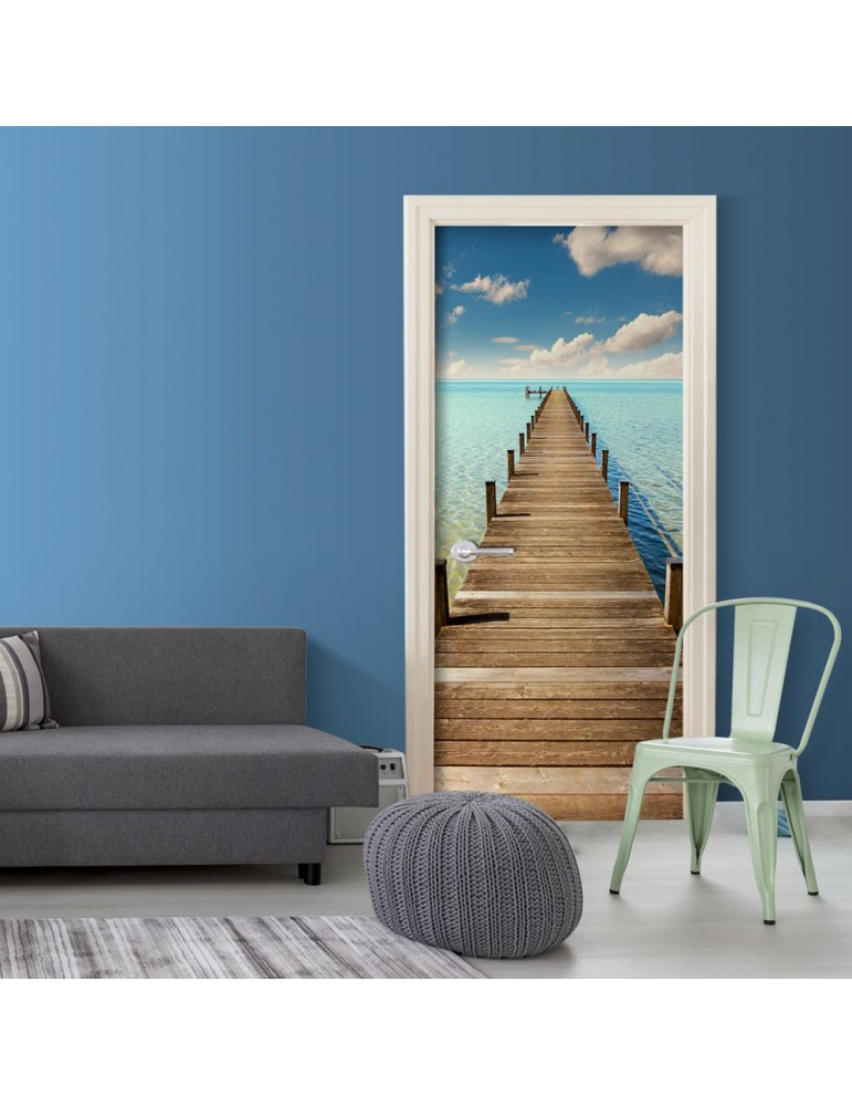 Papier-peint pour porte - Turquoise Harbour A1-TNTTUR0159