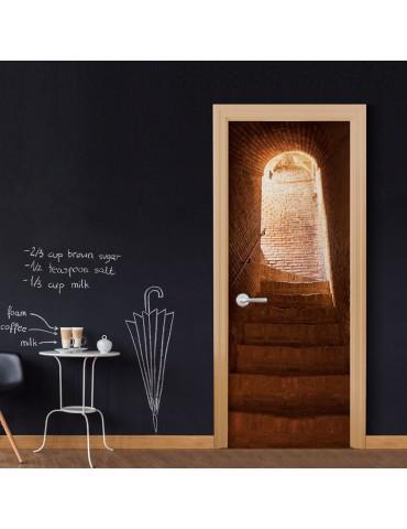 Papier-peint pour porte - Secret Stairs A1-TNTTUR0195