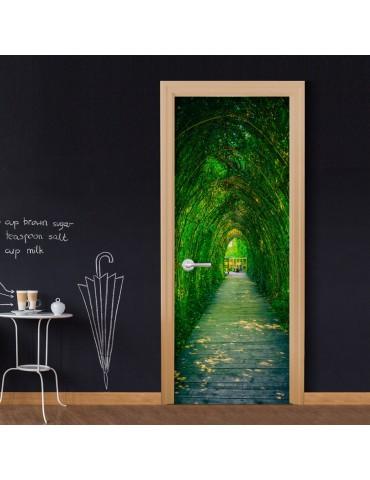 Papier-peint pour porte - Green Corridor A1-TNTTUR0219