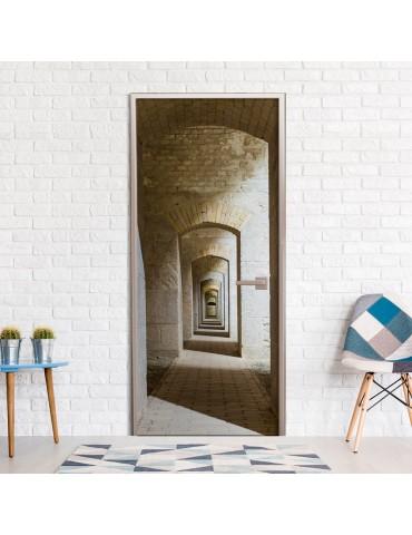 Papier-peint pour porte - Mysterious Corridor A1-TNTTUR0243