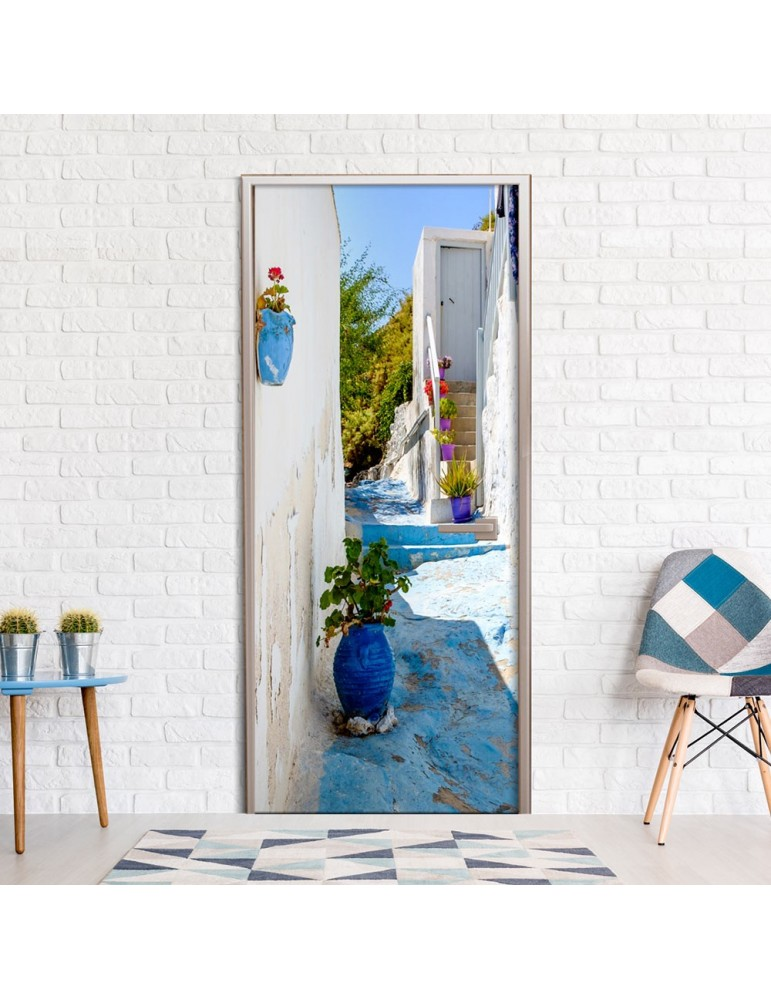 Papier-peint pour porte - Blue Alley A1-TNTTUR0251