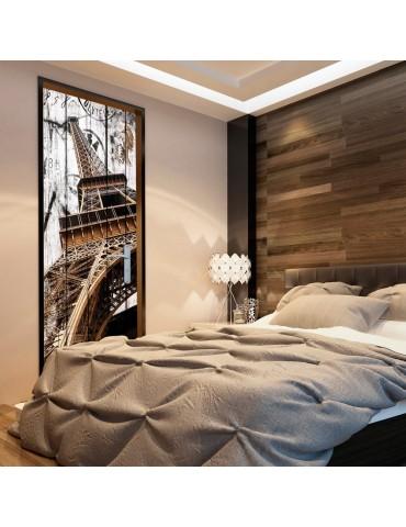 Papier-peint pour porte - Photo wallpaper - Eiffel Tower on wood I A1-TNTTUR0315