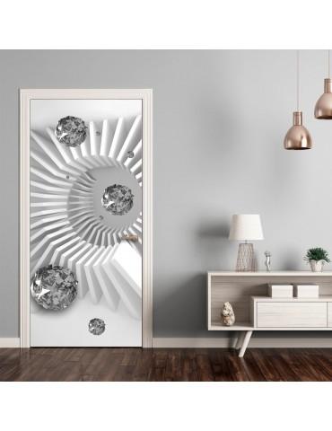 Papier-peint pour porte - Photo wallpaper - Black and white abstraction I A1-TNTTUR_70_0343