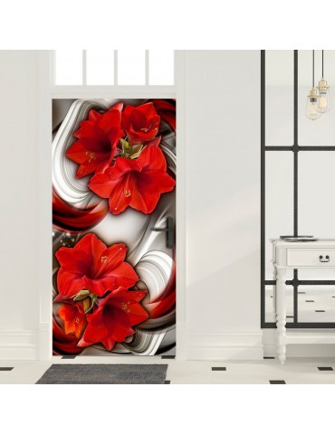 Papier-peint pour porte - Photo wallpaper - Abstraction and red flowers I A1-TNTTUR_70_0346