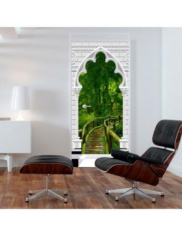 Papier-peint pour porte - Photo wallpaper - Gothic arch and jungle I A1-TNTTUR_70_0351