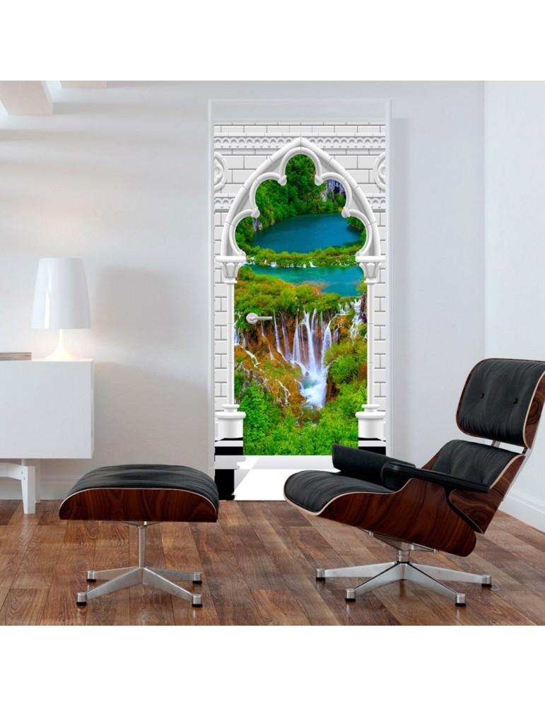 Papier-peint pour porte - Photo wallpaper - Gothic arch and waterfall I A1-TNTTUR_70_0352
