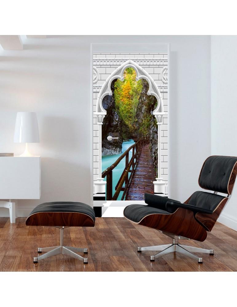 Papier-peint pour porte - Photo wallpaper - Arch and wooden path I A1-TNTTUR_70_0353