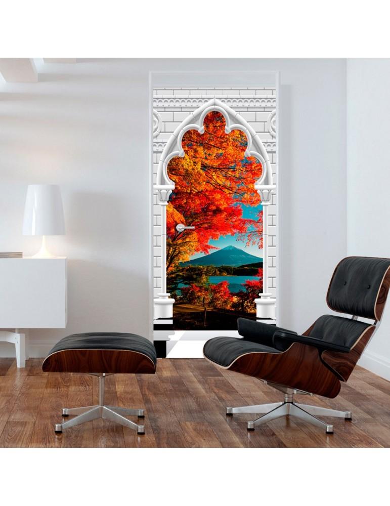 Papier-peint pour porte - Photo wallpaper - Gothic Arch and Mount Fuji I A1-TNTTUR_70_0354