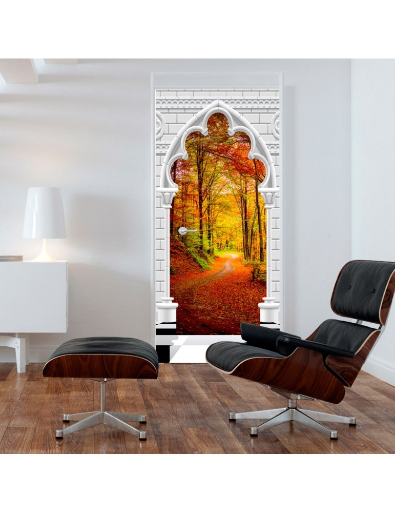 Papier-peint pour porte - Photo wallpaper - Gothic Arch and forest in atumn I A1-TNTTUR_70_0355
