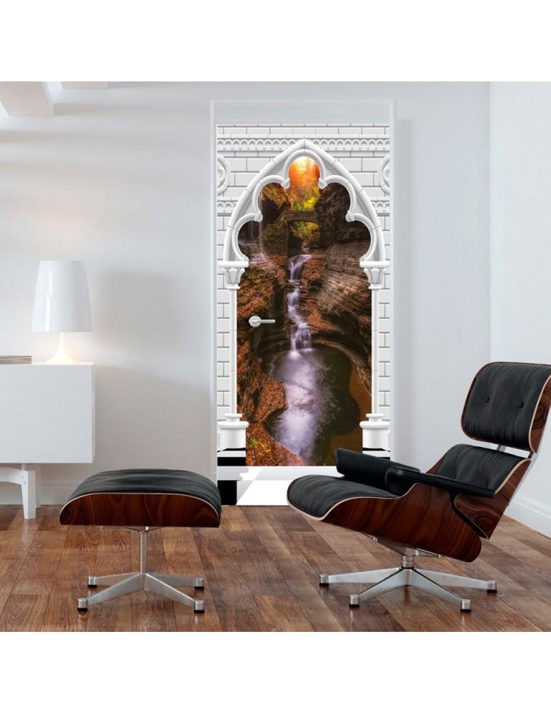 Papier-peint pour porte - Photo wallpaper - Gothic arch and waterfall V A1-TNTTUR_70_0356